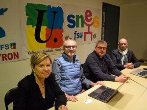 Au SNUipp-FSU : Maryline Laumond, Antoine Cantais, Sébastien Laumond et Sylvain Lagarde.