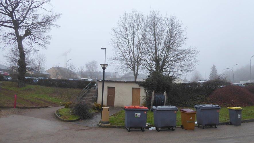 L'espace public situé à proximité de l'Espace Antoine-de-Saint Exupéry,qui va être requalifié.