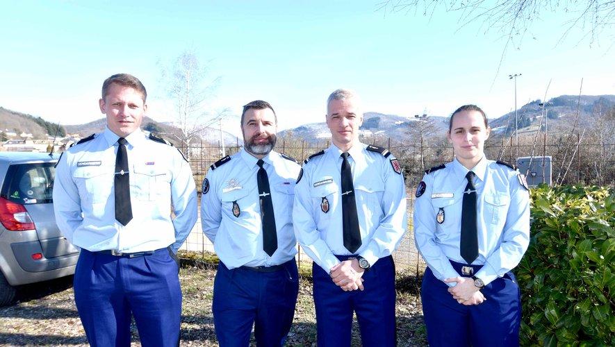 Les nouveaux gendarmes affectésà la communauté de brigades.