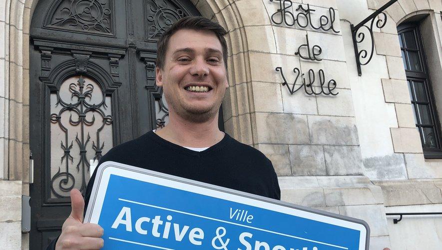 Ramiro Rocca, adjoint aux sports, se félicite de l'obtention du label « Ville active et sportive ».