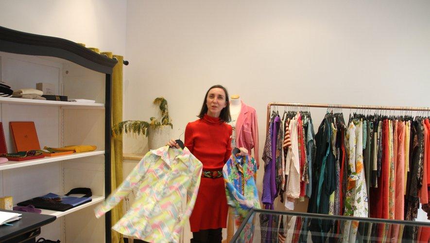 Séverine Souyri dans son magasin de la rue Marcellin-Fabre.