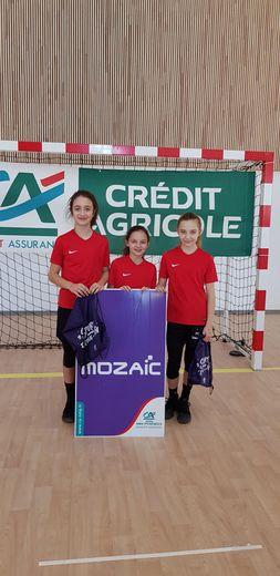 Inès, Célia et Inès, vainqueurs U13 F du Tournoi Mozac 3X3.