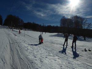 Le week-end dernier, les conditions sur les pistes de Brameloup restaient exceptionnelles.