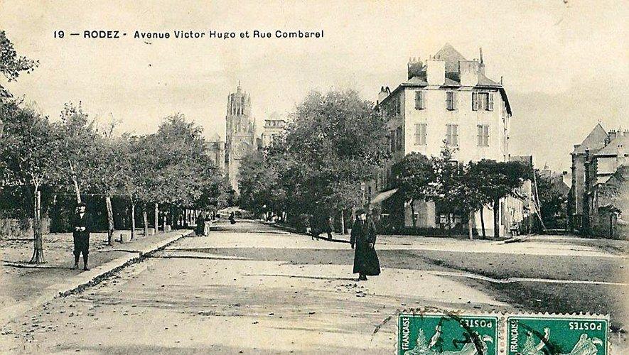 L'avenue Victor-Hugo  et la rue Combarel au début  du siècle dernier.