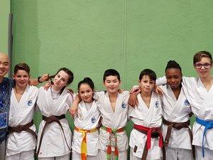 Les judokas ayant participé au championnat d'Occitanie avec leur coach.