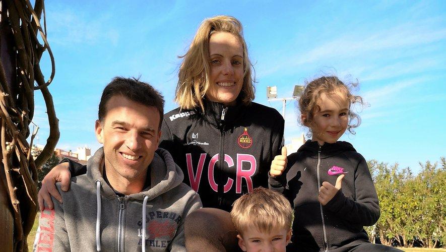 Bien qu'il rime avec travail sur le vélo, le stage sur la Costa Brava a aussi un petit goût de vacances pour Pauline Sabin-Teyssèdre, Mathias, son mari, et leurs deux enfants, Thelma et Victor.
