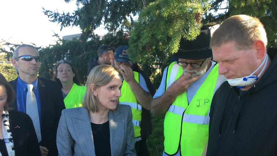 A Olemps, Agnès Pannier-Duracher a pris quelques minutes pour converser avec des Gilets jaunes.