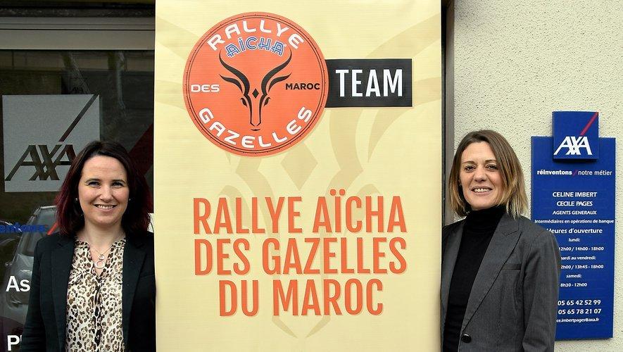 Céline Imbert ( à droite) est associée à Cécile Pagès, double championne de France féminine de rallye. MR