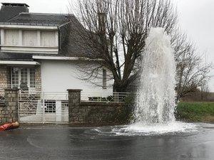 Une fuite d'eau impressionnante.