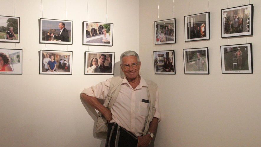 Jean-Marie Périer dans l'espace consacré aux clichés des gens d'ici ouvert l'été dernier.