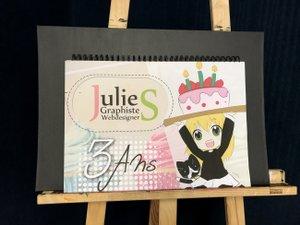 Pour fêter cet anniversaire,Juie Saurel vous invite à découvrirses dernières créations.