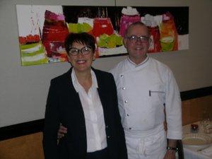 Régine et Philippe Caralp au Méjane, à Espalion, offrent une cuisine d'une grande finesse, très appréciée des gourmets.