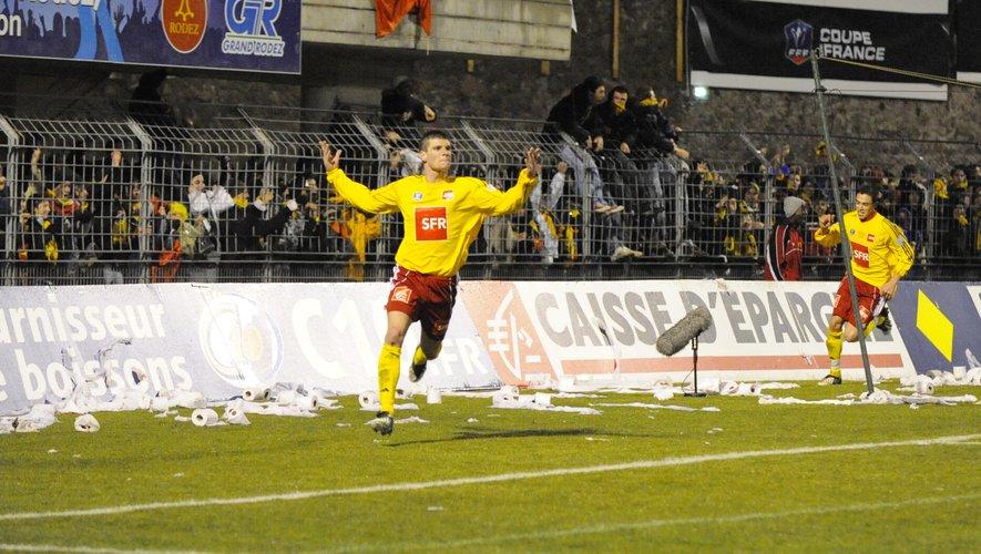 4 mars 2009 : Jérémy Choplin double buteur face au PSG dans un Paul-Lignon bouillant malgré le grésil.