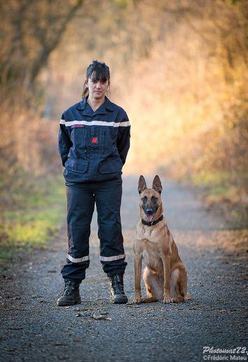 Aurélie Alvernhe, 35 ans, sapeur-pompier volontaire à Rodez depuis 9 ans.