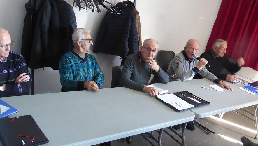 Les membres du bureau lors de l'assemblée générale.