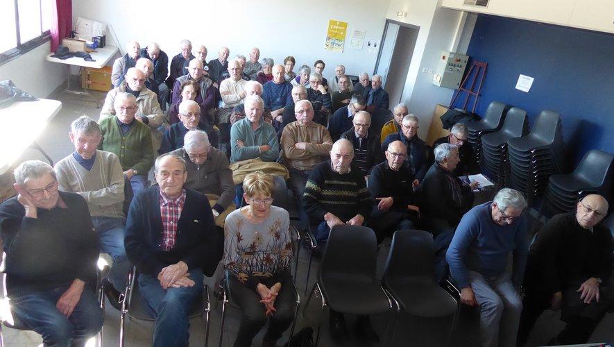 Les adhérents participant à l'assemblée générale.