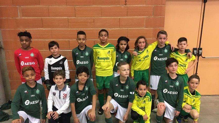 Les U11 de LPFC et de Saint-Etienne avant leur opposition.