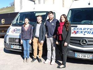 Adeline, Corentin, Sylvain et Géraldine.
