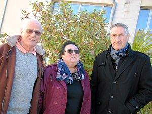 Michel Boulay, Geneviève Gimenez et Jacques Bodereau, pour les Amis du stade.