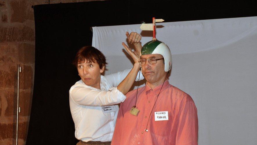 Isabelle Bach et Gérard Fernandez sur la scène du Manoir l'an dernier.