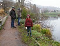 La pêche est une affaire de famille. Trois générations de pescofis ont fait l'ouverture ensemble.