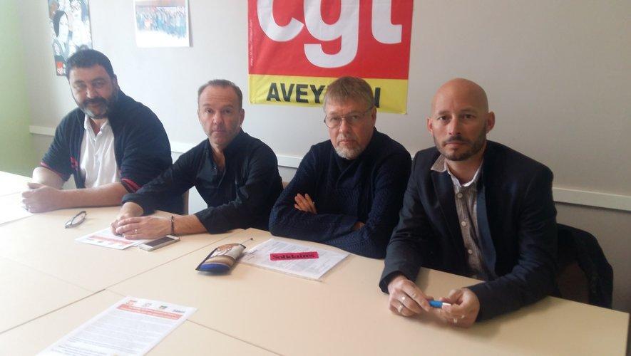 Les délégués de l'intersyndicale CGT - FO - FSU et Solidaires sont mobilisés.