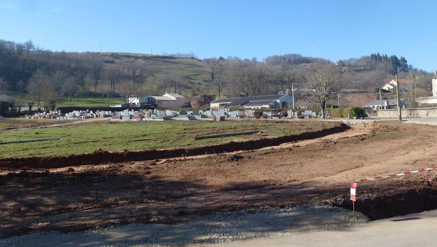 Le chantier d'extension du cimetière a dû être arrêté…