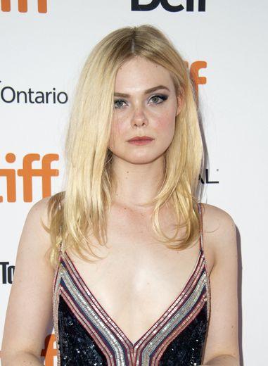 """L'actrice Elle Fanning avant la projection de """"Teen Spirit"""" au festival international du film de Toronto, le 7 septembre 2018."""
