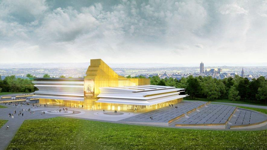 Le futur parc des expos du Grand Rodez tel que l'a imaginé Alain Sarfati.