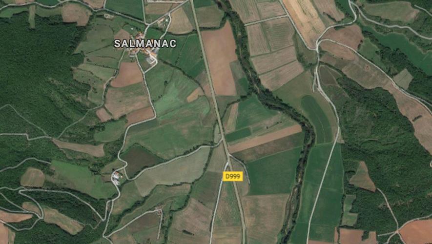 """L'accident s'est produit au niveau du lieu-dit """"Salmanac""""."""