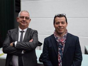 Michel Santos (à droite) a succédé à la présidence à Philippe Panis.