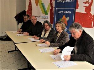 Gérard Marty, Michel Pradels, Michelle Buessinger, Christine Presne, Marc Gosselin.