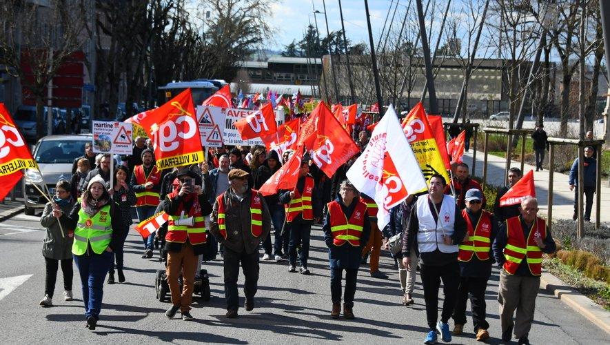 Ils étaient 1 700 manifestants, selon les syndicats et 750 selon la police,