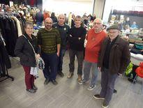 Les membres du bureau du Clocher Saint-Martin autour du président Jean-Michel Guizard.