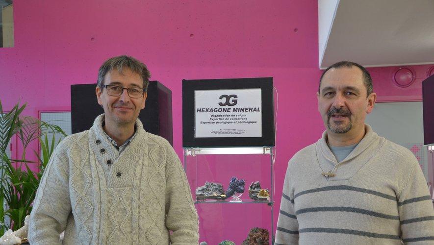 David Chauvaud et Jean-Michel Grégoire, organisateurs du salon.