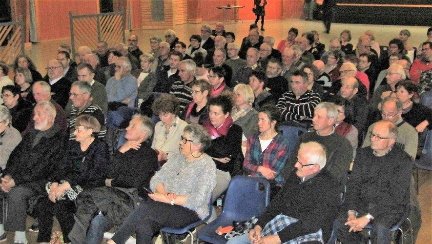 André Valadier a remercié et félicité le public d'être venu en aussi grand nombre.