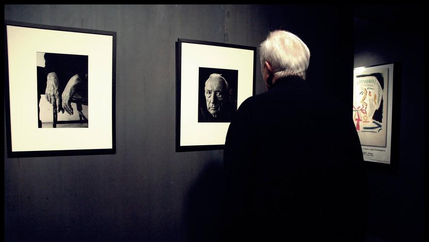 Pierre Soulages, l'artiste aveyronnais le plus connu à travers le monde.