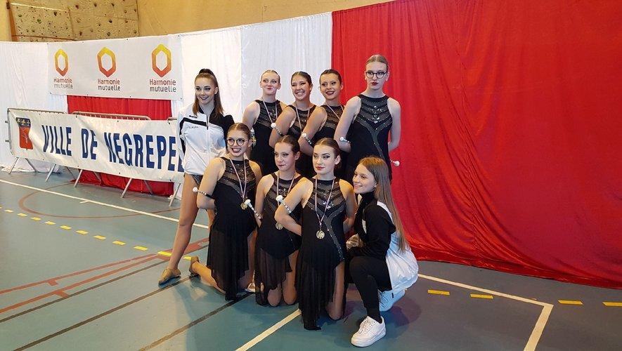 Le groupe junior N2 d'Aubin.