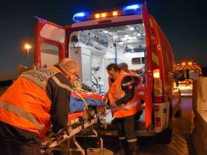 Les sapeurs-pompiers de Millau s'entraînent une fois tous les six mois sur le viaduc ou l'aire de péage.