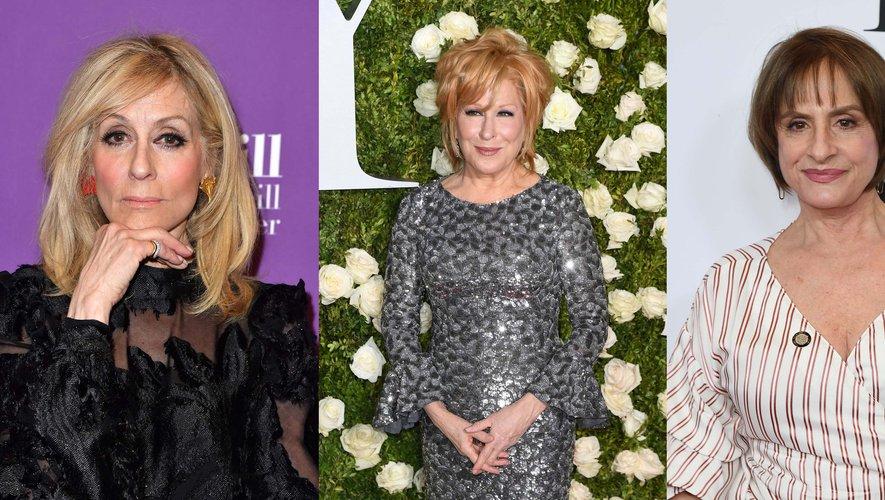 Judith Light (à gauche), Bette Midler (au centre) et Patti LuPone sont attendues dans diverses séries de Ryan Murphy