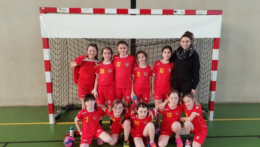 Les moins de 11 ans filles au tournoi interdépartemental.