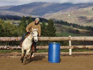 Du « barrel racing », activité spectaculaire a été proposée.