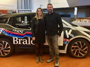 Ludovic Braley et sa copilote Aurore Solignac.