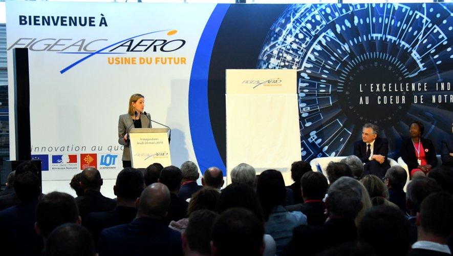 Ce jeudi 28 mars, lors de l'inauguration de l'Usine du futur de Figeac Aéro.