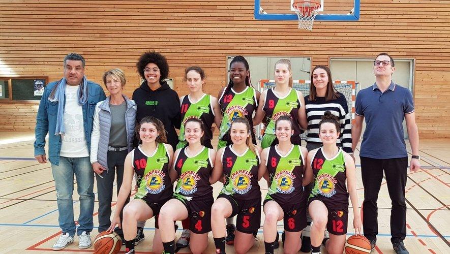 L'équipe féminine U18 qui s'est imposée 63 à 45 face à Carmaux.