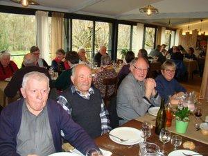 Les aînés se sont retrouvés autour d'une bonne table pour leur première sortiede l'année.