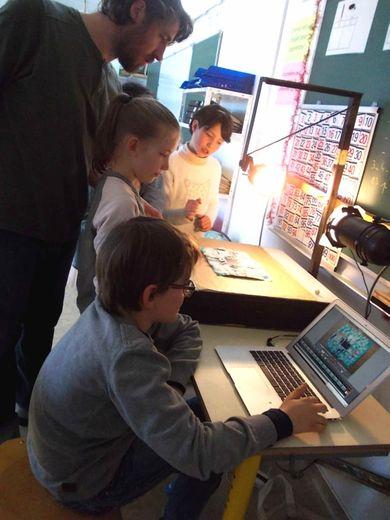 Création d'un film d'animation  à l'école du village