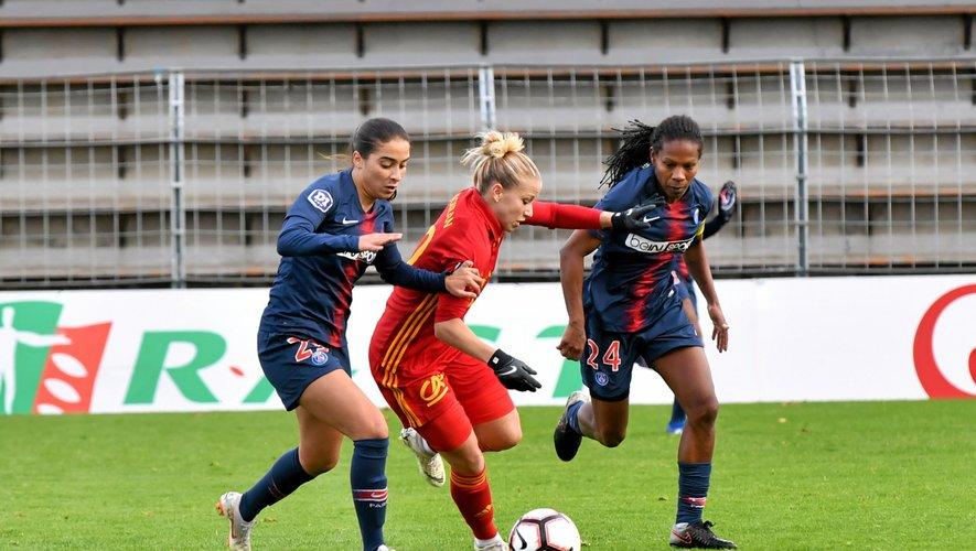 FOOTBALL - D1 féminine. Noiran et les Ruthénoises ont concédé face au Paris SG leur 13e défaite de la saison.