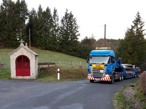 La  roue en inox pèse 26,6 tonnes.