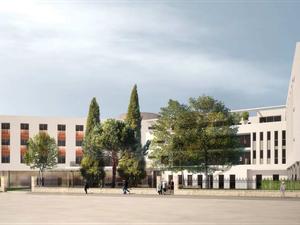 Le bâtiment de 1 000 m2 sera ouvert sur la rue Alsace-Lorraine et intégrera nombre d'espaces verts.